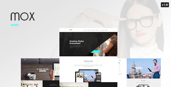 ThemeForest Mox Single & Mutli Page PSD Template 10742557