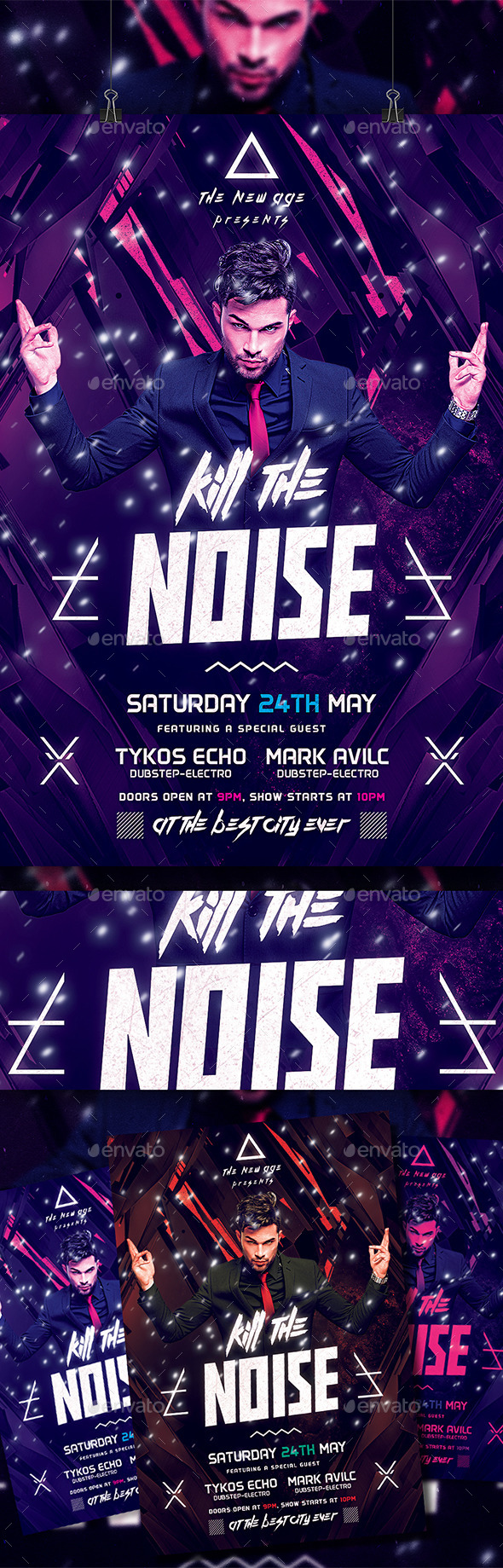 GraphicRiver Minimal Flyer Kill The Noise 10679626