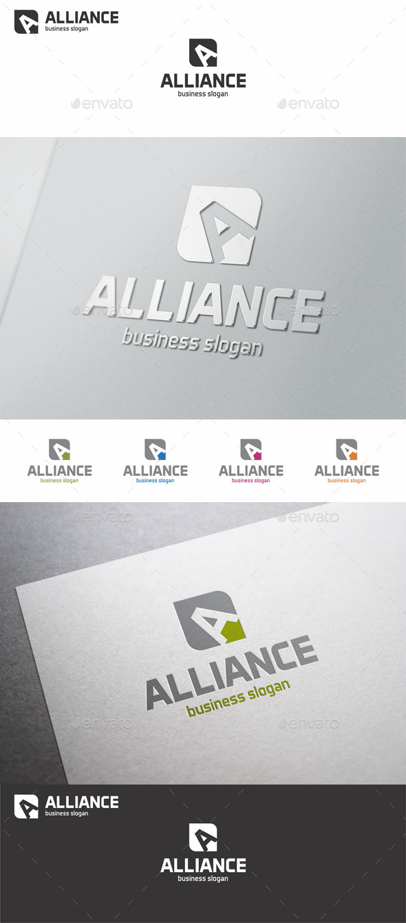 GraphicRiver Alliance Capital A Logo Letter 10743090