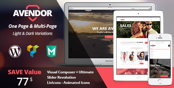 ThemeForest AVENDOR WordPress Responsive Multi-purpose Theme 10663170