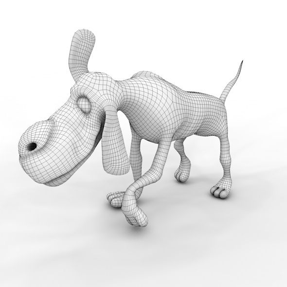 3DOcean low poly dog 10746405