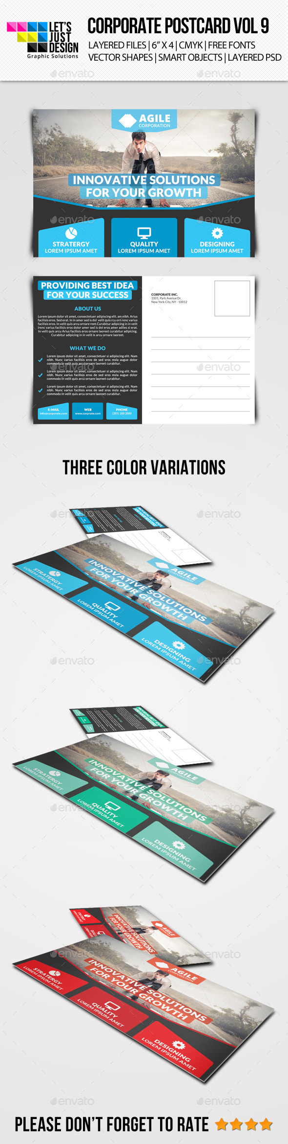 GraphicRiver Corporate Postcard Template Vol 9 10746511