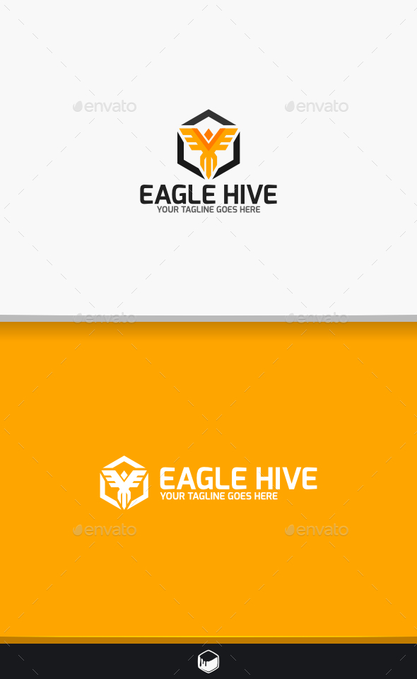 GraphicRiver Eagle Hive Logo 10729950