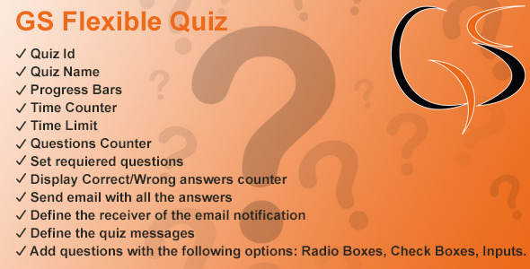 CodeCanyon GS Flexible Quiz 10707533