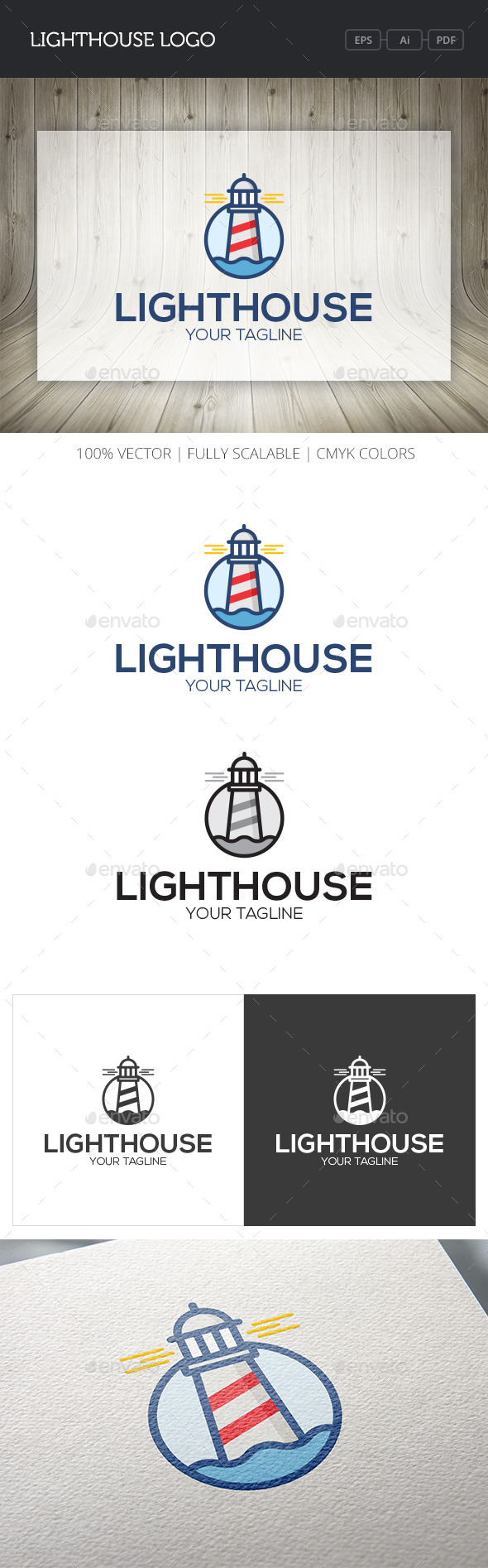 GraphicRiver Lighthouse Logo 10747147