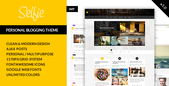 ThemeForest Selfie Personal Blogging Theme 10747318