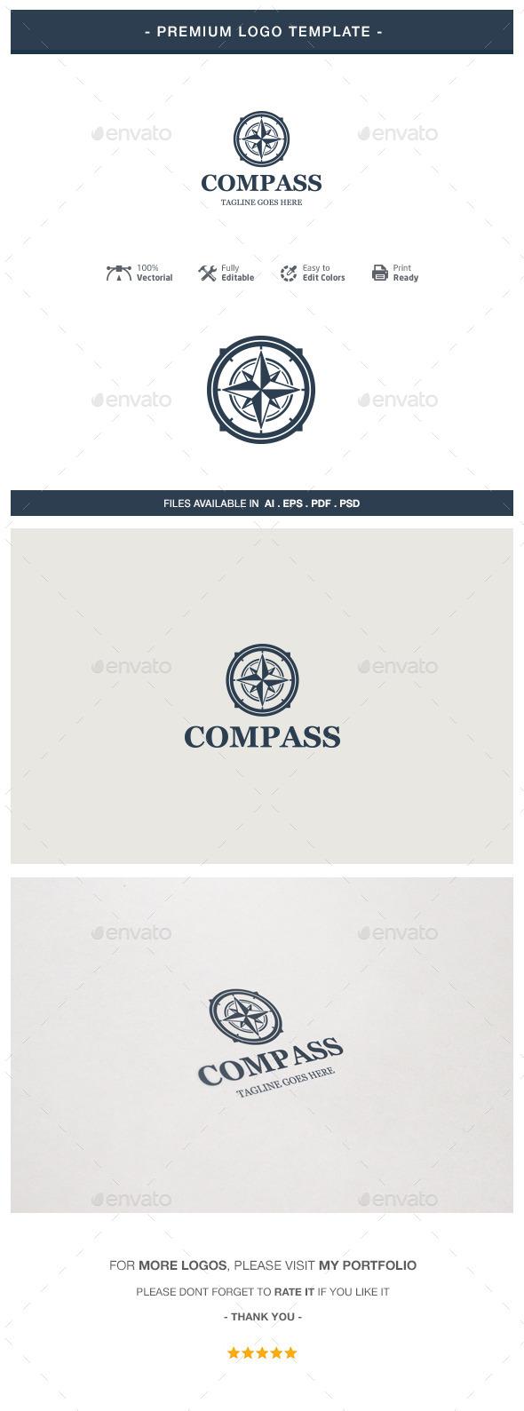 GraphicRiver Compass Logo Template 10747332