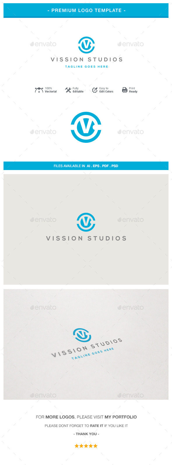 GraphicRiver Letter V Logo Template 10747465