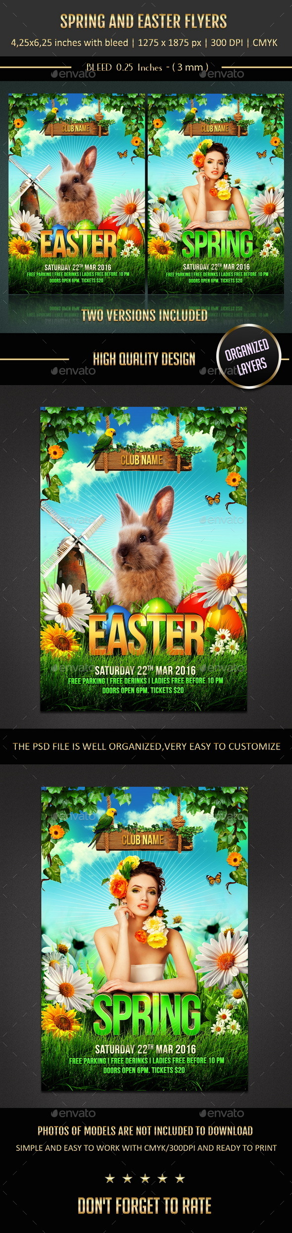 GraphicRiver Spring and Easter Flyers 10747468
