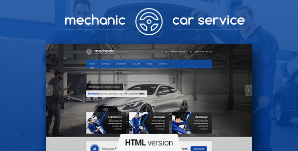 Mechanic – car service & repair workshop template – Over ...