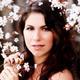 Caucasian Woman Portrait Among White Blossoms Outdoors - PhotoDune Item for Sale