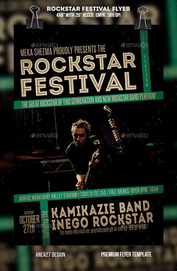 GraphicRiver RockStar Festival Flyer 10747627