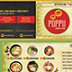 Japanese Bistrot Mini Flyer - GraphicRiver Item for Sale