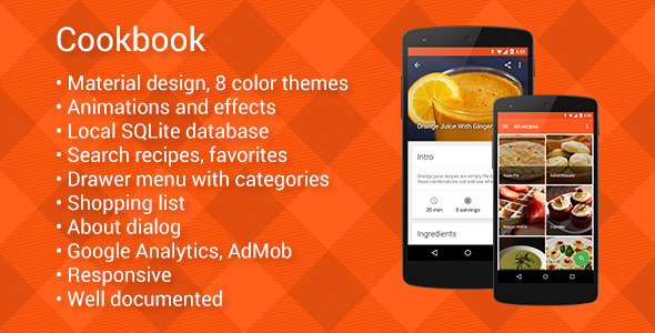 CodeCanyon Cookbook Recipes on Android 10747654