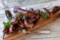 Roasted Mix Of Spareribs And Sausages - PhotoDune Item for Sale