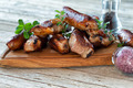 Wooden Board With Roasted Spareribs And Sausages - PhotoDune Item for Sale