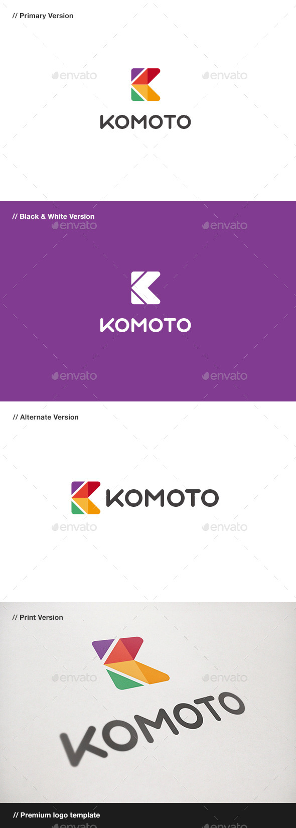 GraphicRiver Komoto Abstract Letter K Logo 10747995