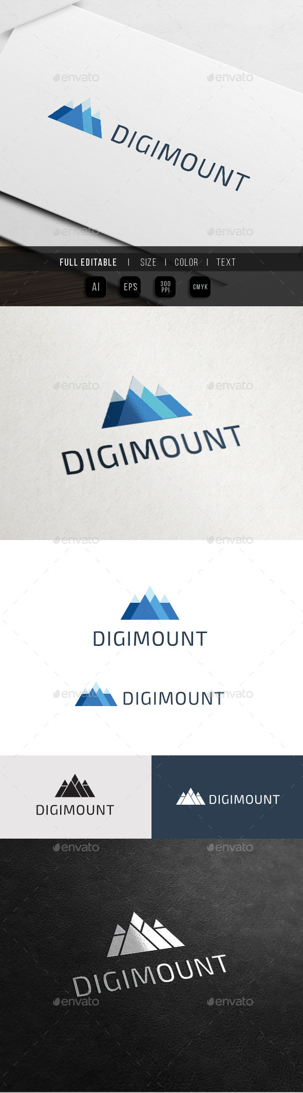 GraphicRiver Digital Mountain Triangle Pyramid 10747996