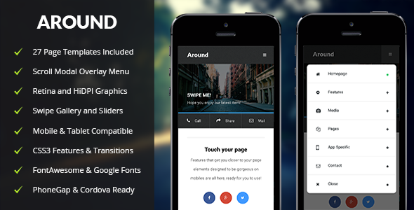 ThemeForest Around Mobile & Tablet Responsive Template 10700861