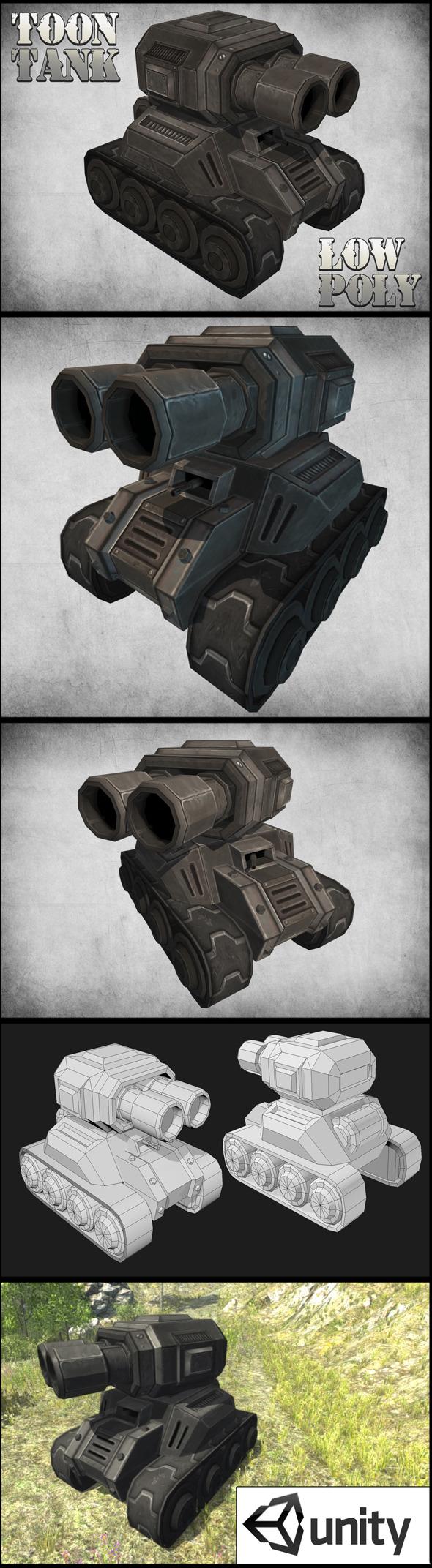 Toon Tank - 3DOcean Item for Sale
