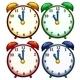 Four Colourful Clocks