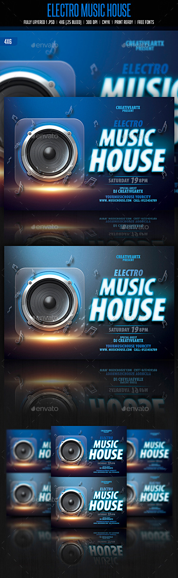 GraphicRiver Electro Music House 10748381