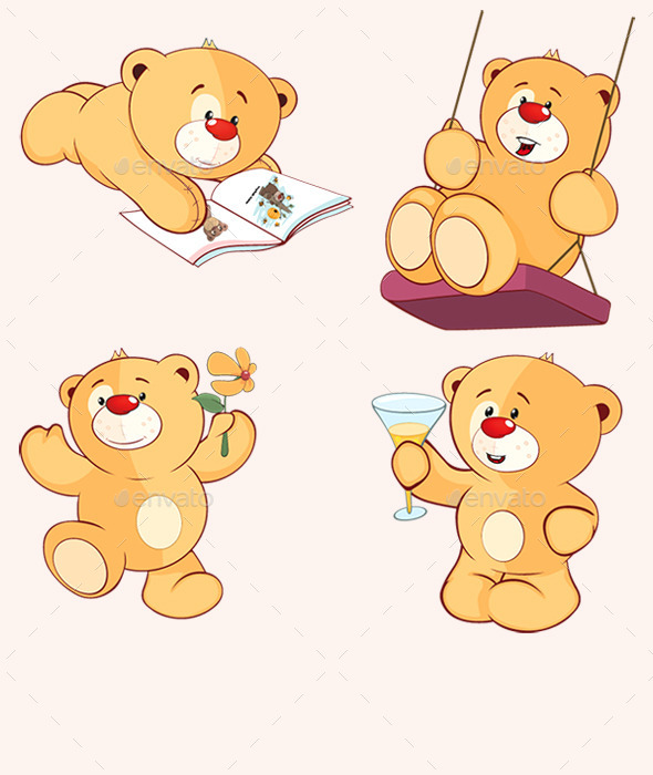 GraphicRiver Stuffed Bear Toys 10748384