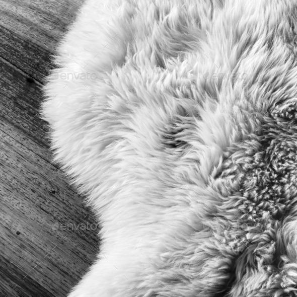 Sheepskin Black and White