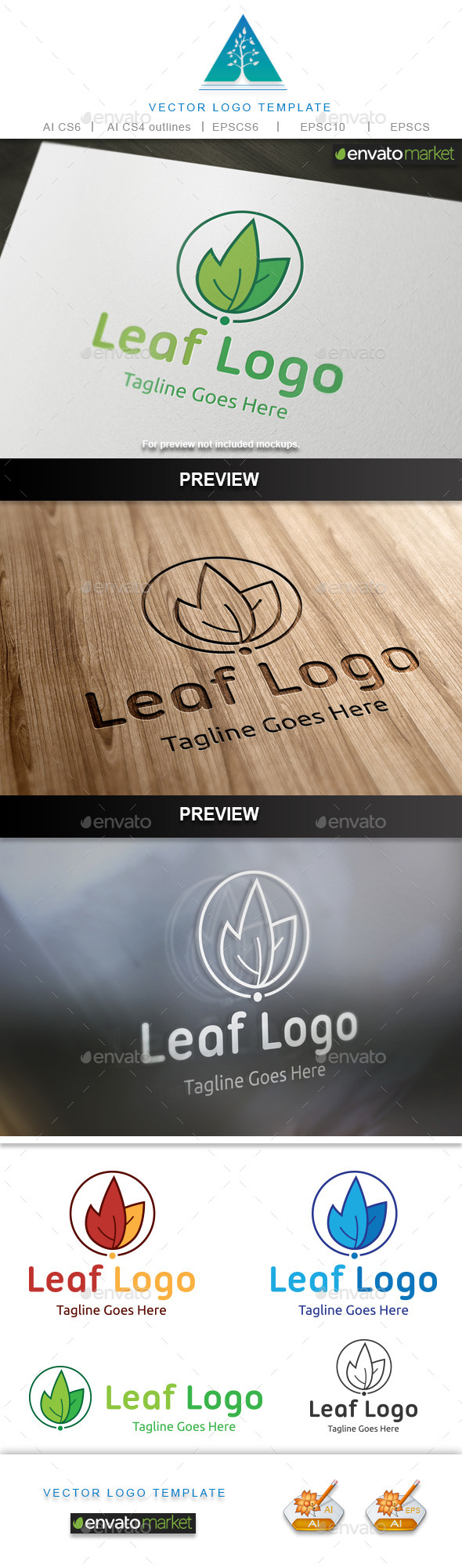 GraphicRiver Leaf Logo 10748472
