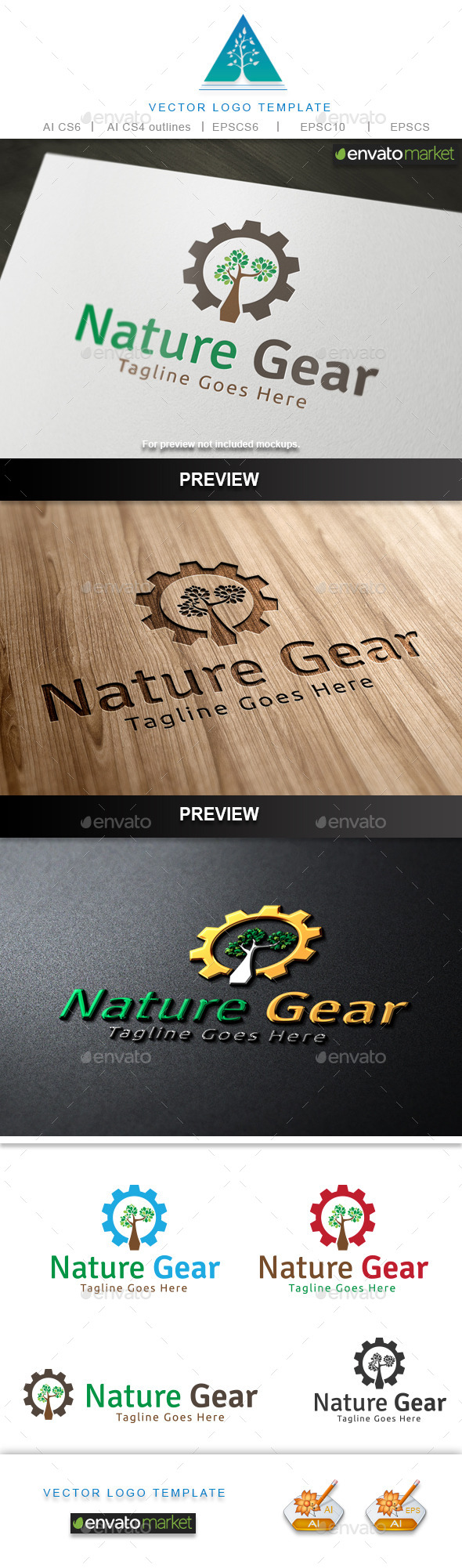 GraphicRiver Nature Gear Logo 10748491