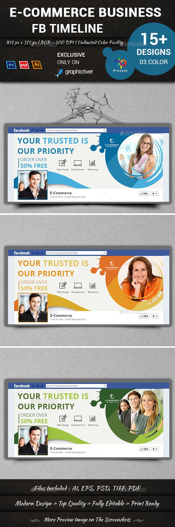 GraphicRiver E-Commerce Business FB Timeline 10748524