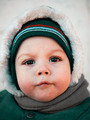 winter portrait of a baby close-up - PhotoDune Item for Sale