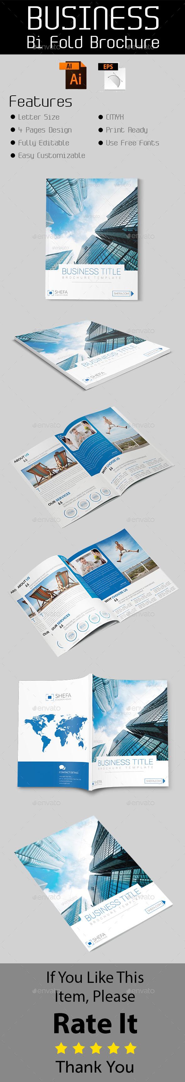 GraphicRiver Business Bi-Fold Brochure Template 10682767