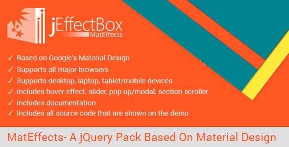 CodeCanyon MatEffects- A jQuery Pack Based On Material Design 10707514