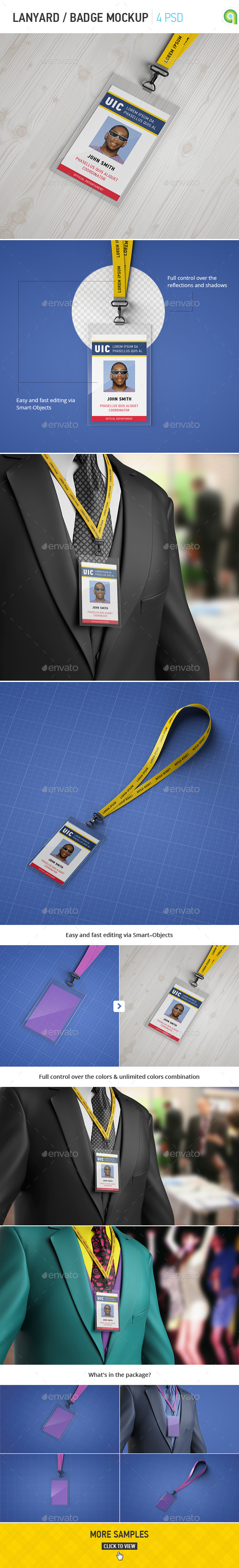 GraphicRiver Lanyard Badge Mockup 10749940