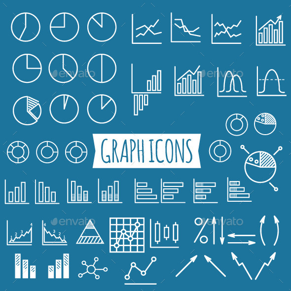 GraphicRiver 40& Diagram and Graphs Icons 10750257