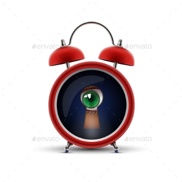 GraphicRiver Clock with Keyhole Eye 10750428
