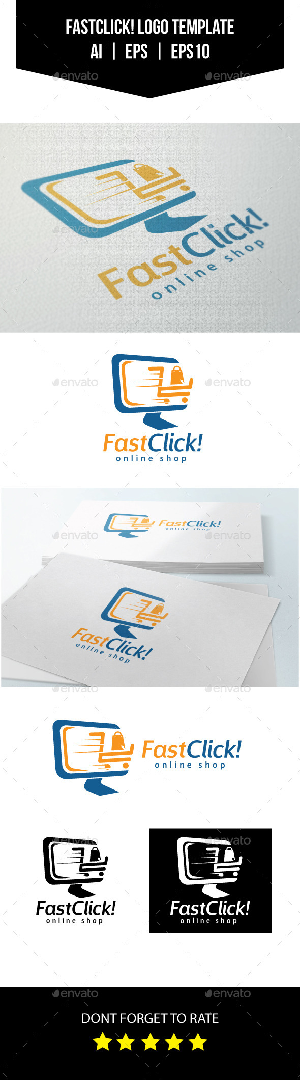 GraphicRiver Online Shop Logo Template 10750464