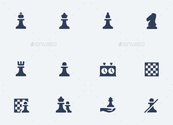 GraphicRiver Chess Icons Set 10750645