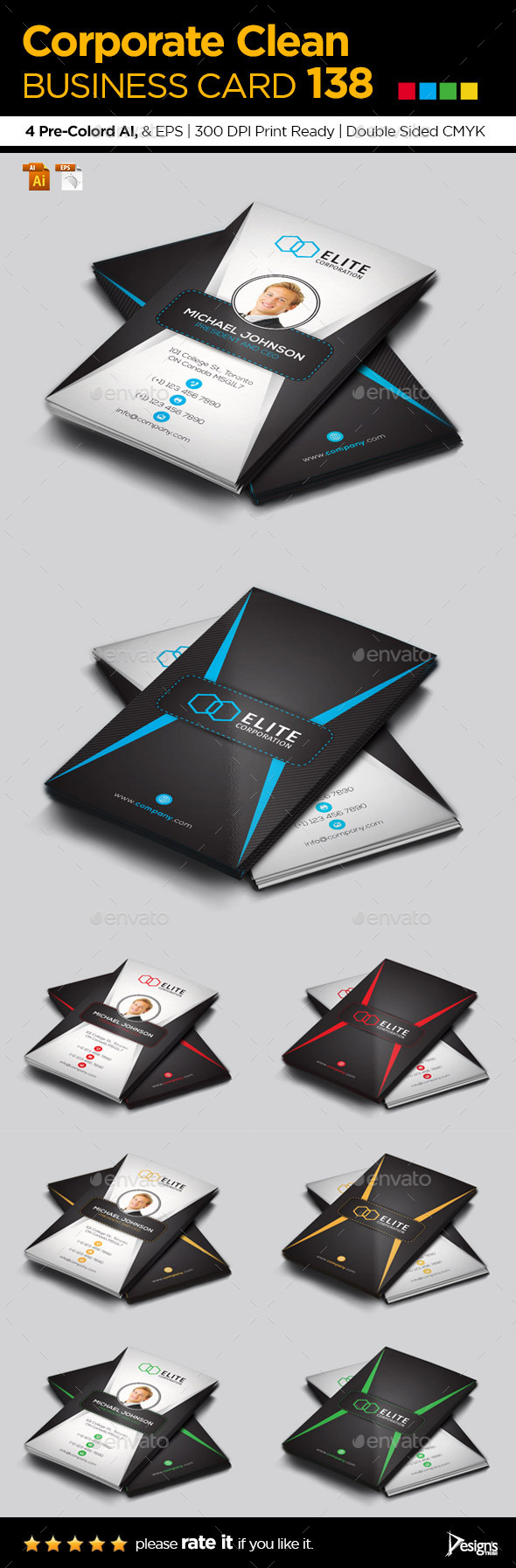 GraphicRiver Business Card 138 10750758