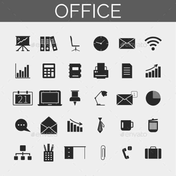 GraphicRiver Office Icons Set 10750761