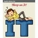 A Man Sleeping On It - GraphicRiver Item for Sale