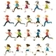 Faceless People Running - GraphicRiver Item for Sale