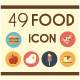Set of 49 Food Icons - GraphicRiver Item for Sale