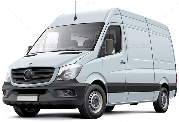GraphicRiver European Delivery Van 10750970