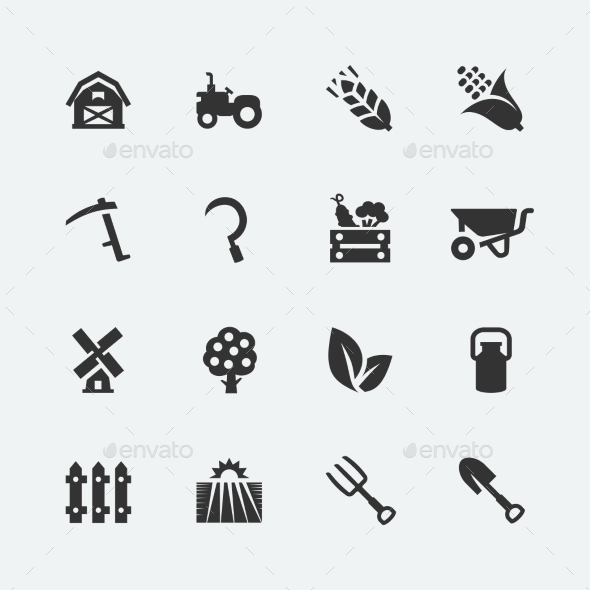 GraphicRiver Farming Icons 10750981