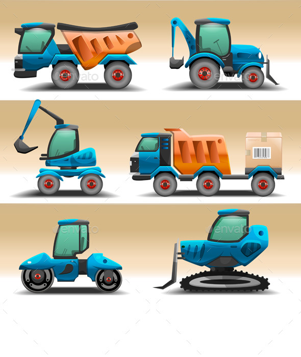GraphicRiver Road Equipment Vector 10736369