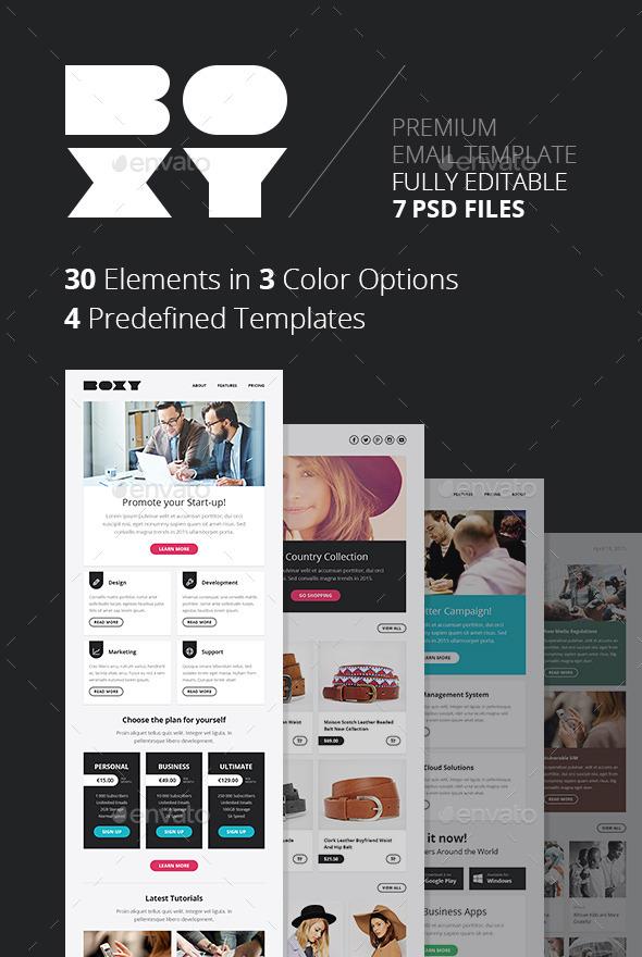 GraphicRiver Boxy Multipurpose E-newsletter Template 10751156