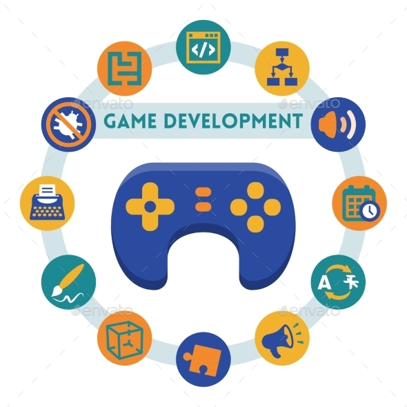 GraphicRiver Game Development Infographic 10751382