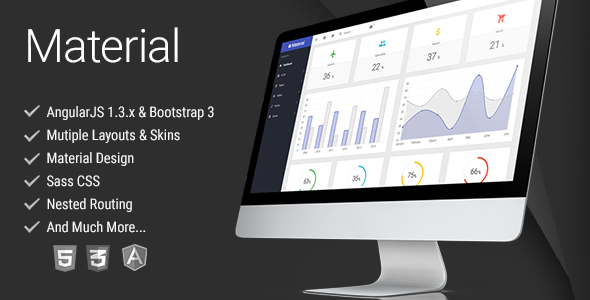 ThemeForest Material Design AngularJS Admin Template 10713818